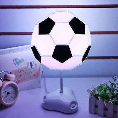 DIY USB Multi color Football Lamp Handmade Night Light Desk Lamp Colorful Bedside Lamp