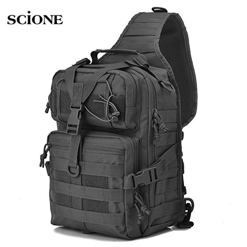 Military Tactical Sling Bag Chest Bags Amy Backpack Molle EDC Rucksack Outdoor Hiking Camping Men Mochila Tactica Militar XA1A