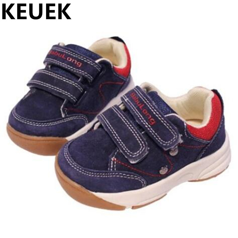 NEW Spring Autumn Genuine Leather Children Baby Toddler Shoes Boys Girls Hook Loop Functional Shoes Kids