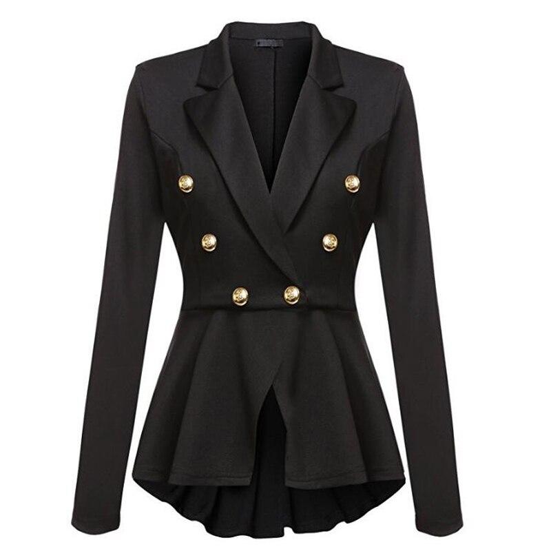 Neue Blazer Mantel Schwarz Rot Frauen Schlank Elegante Jacke