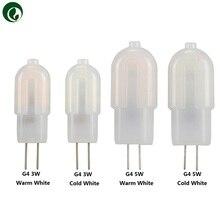 10 Uds Mini G4 G9 3W 5W 7W SMD2835 Bombilla LED AC & DC 12V AC 220V LED filamento plástico lámpara de cristal interior hogar dormitorio iluminación