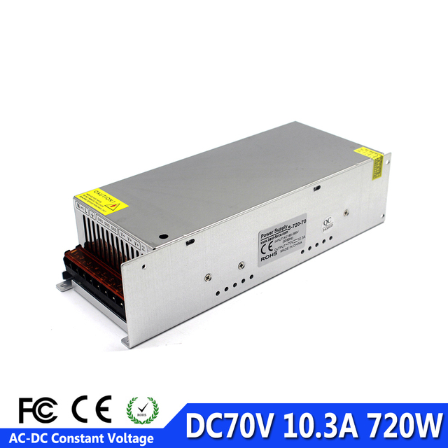 US $59 94 10% OFF|Switch Power Supply DC70V 10 3A 720W Power Source  Transformer 220V AC DC SMPS For CNC Router Machine Equipment Stepper Motor  -in