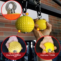2pcs Pull Up Balls Cannonball Grips Strength Training Arm Muscles Barbells Gym Hand Grip Ball With Bandage Carabiner