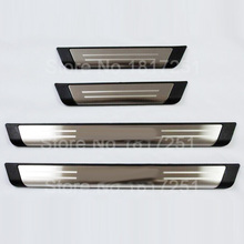free shipping For EUR Volkswagen Tiguan Door Sill Scuff Plate Stainless Steel Welcome Pedal 4pcs Car Accessories все цены