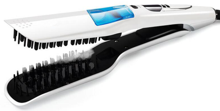 Vapor Ceramic Flat Iron Electric Hair Straightener Brush Steam Straightening Iron Combs LCD Display cepillos para el pelo