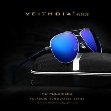 Veithdia Hombres de la Marca de gafas de Sol Polarizadas Retro Piloto Gafas de Conducción Espejo De Aluminio gafas de Sol de Los Hombres Gafas de Sol Para Los Hombres V15
