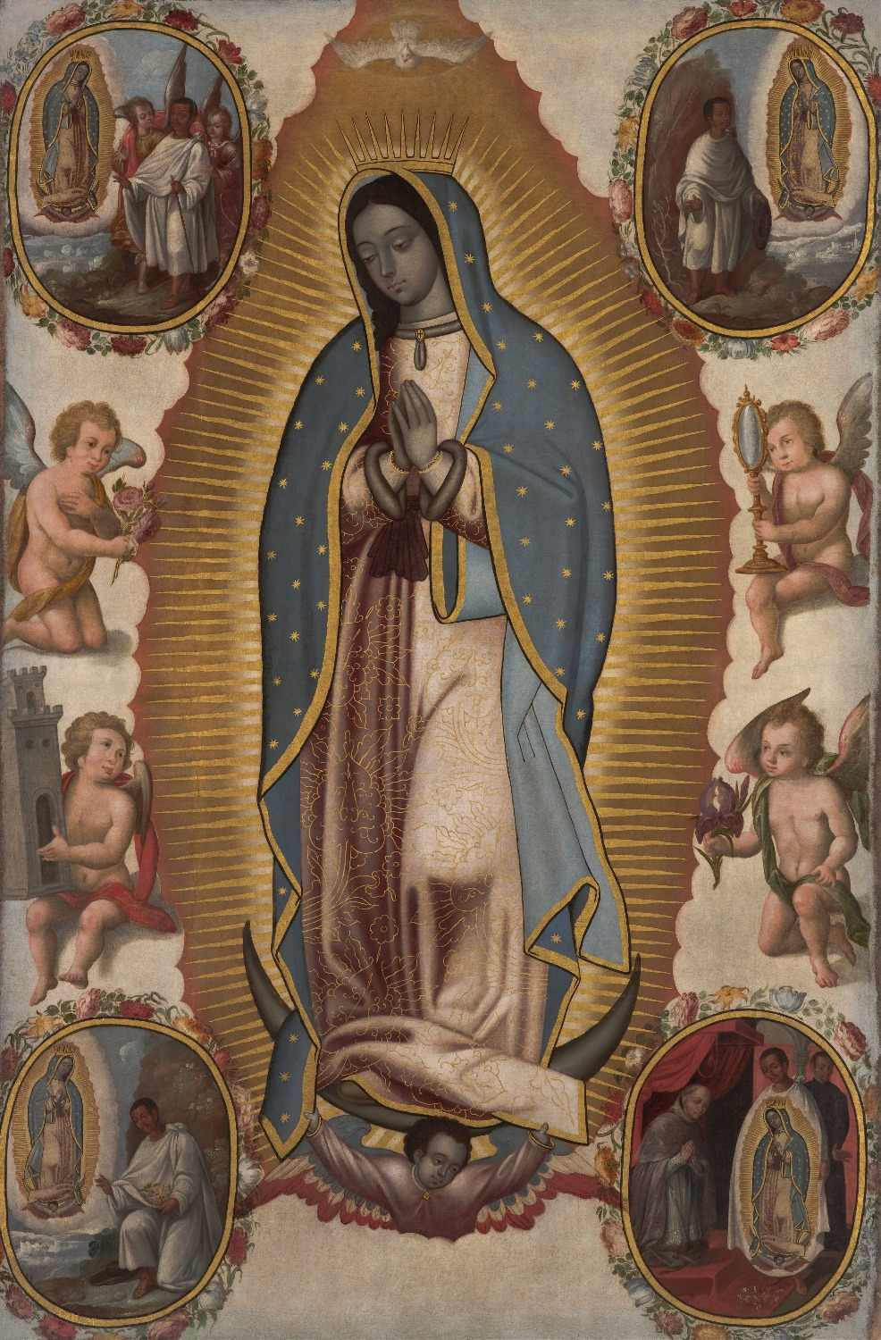 Detail Feedback Questions about Huge TOP Religious painting Virgin of  Guadalupe circa OUR LADY OF GUADALUPE Catholic print painting on canvas  good quality ...