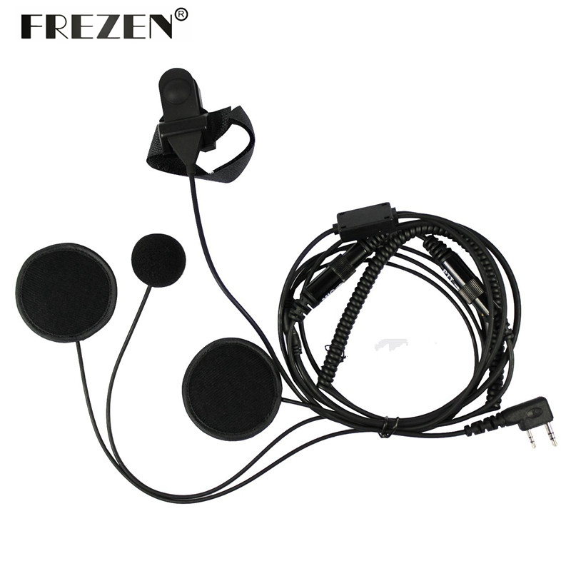 us $16 22 22% off motorcycle full face helmet headset ptt mic for kenwood baofeng cb radio uv 5r uv 5re plus bf f8 gt 3 walkie talkie new in walkie CB Radio Mobile