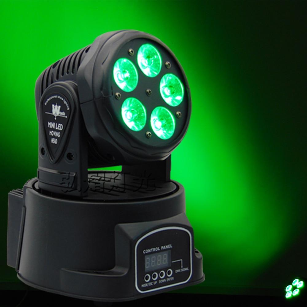 Professional LED Stage Lights 5x18w RGBWA UV 6in1 LED DMX Stage Lighting Effect DMX512 Master-Slave Led for DJ Disco Party KTV