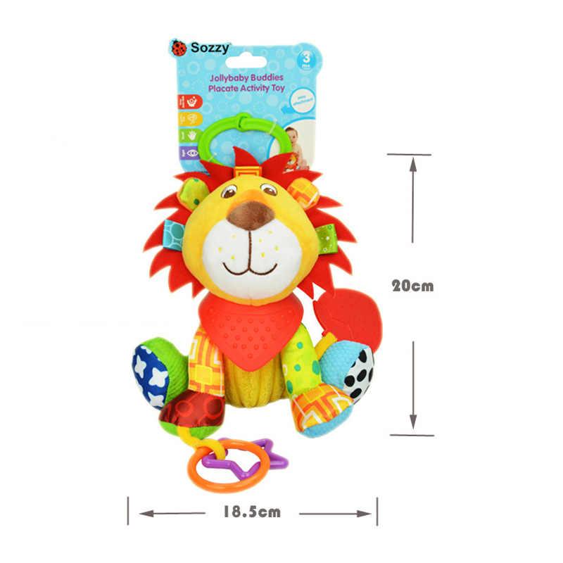Sozzy плюшевые Игрушки для маленьких детей Погремушки детская кровать кроватки Детская кроватка Багги висит игрушка лиса Сова Слон Куклы успокоить активности Игрушечные лошадки детские развивающие