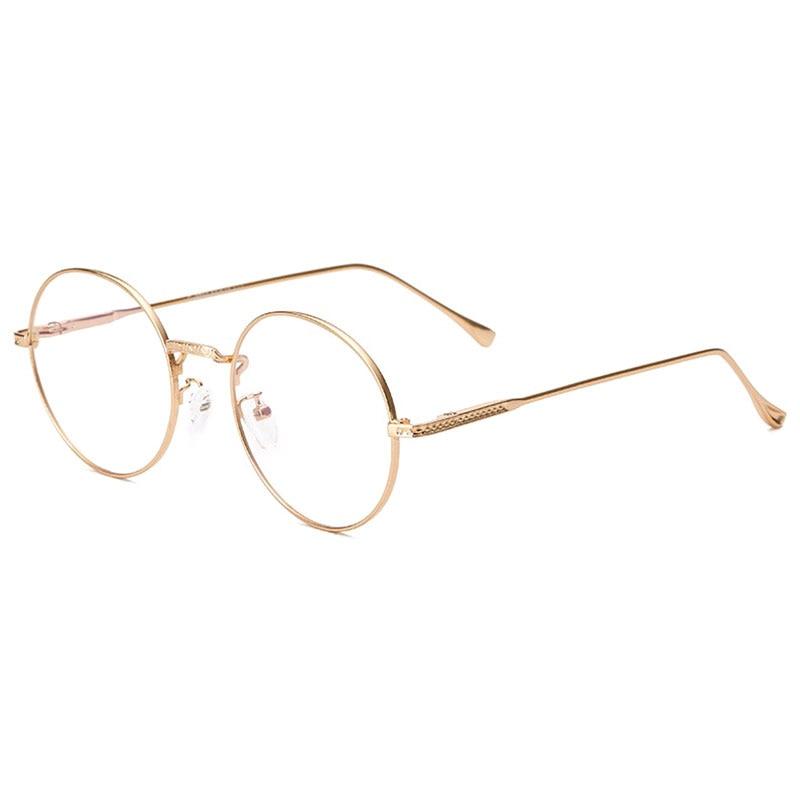Round Glasses Frame Optical Frames Metal  Glasses Frame Clear Lens Eyeware Brand New Eye Glass Eyeglasses Men Women