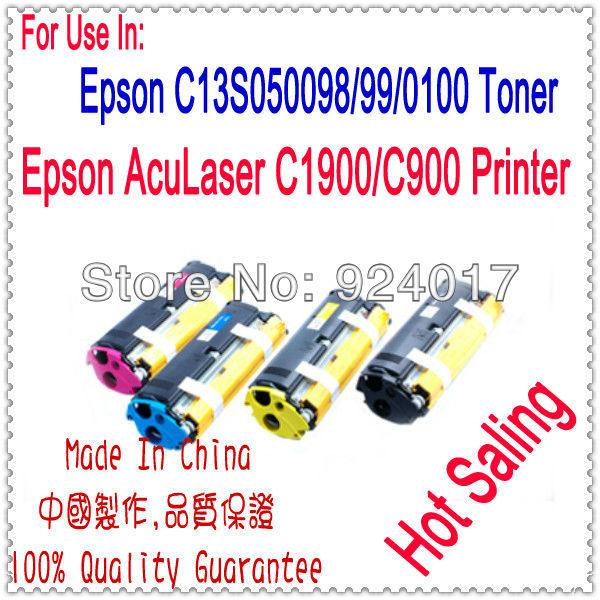 Compatível cartucho de toner epson aculaser c900 c1900 lp1500c, para epson s050100 s050099 s050097 s050098 cartucho de toner de cor