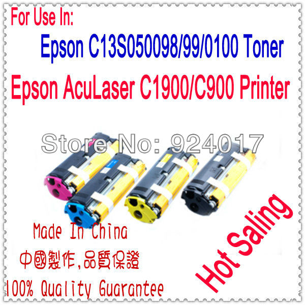 Compatible Epson Aculaser C900 C1900 LP1500C Toner Cartridge,For Epson S050100 S050097 S050098 S050099 Color Toner Cartridge 050100 3
