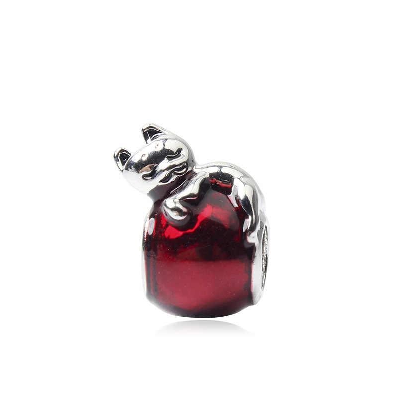 Maxi ต้นไม้ Hollow Love Heart Mickey คริสตัลดอกไม้จี้ลูกปัด Pandora กำไลข้อมือ Femme ทำเครื่องประดับ Colares