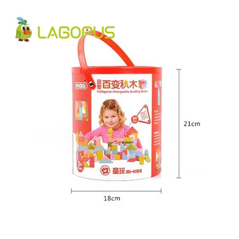 Lagopus Vroege Onderwijs Kubus puzzel speelgoed Varieti B & lock Ontwikkelen Logic Thicking Houten Speelgoed cadeau voor Kids kinderen - 5