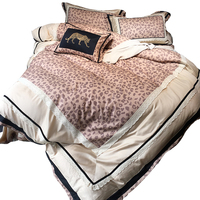 Hot Bedding Outlet Zevi Bedding Stylish Sexy Leopard Duvet Cover Embroidered Luxury Bedspread Lace 4Pcs Queen King drap de lit