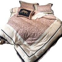Hot Bedding Outlet Zevi Bedding Stylish Sexy Leopard Duvet Cover Embroidered Luxury Bedspread Lace 4Pcs Queen King drap de lit