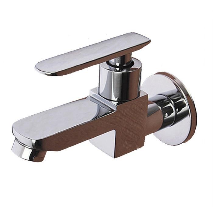 12 singolo foro freddo piazza fissato al muro del bacino rubinetto lavanderia e