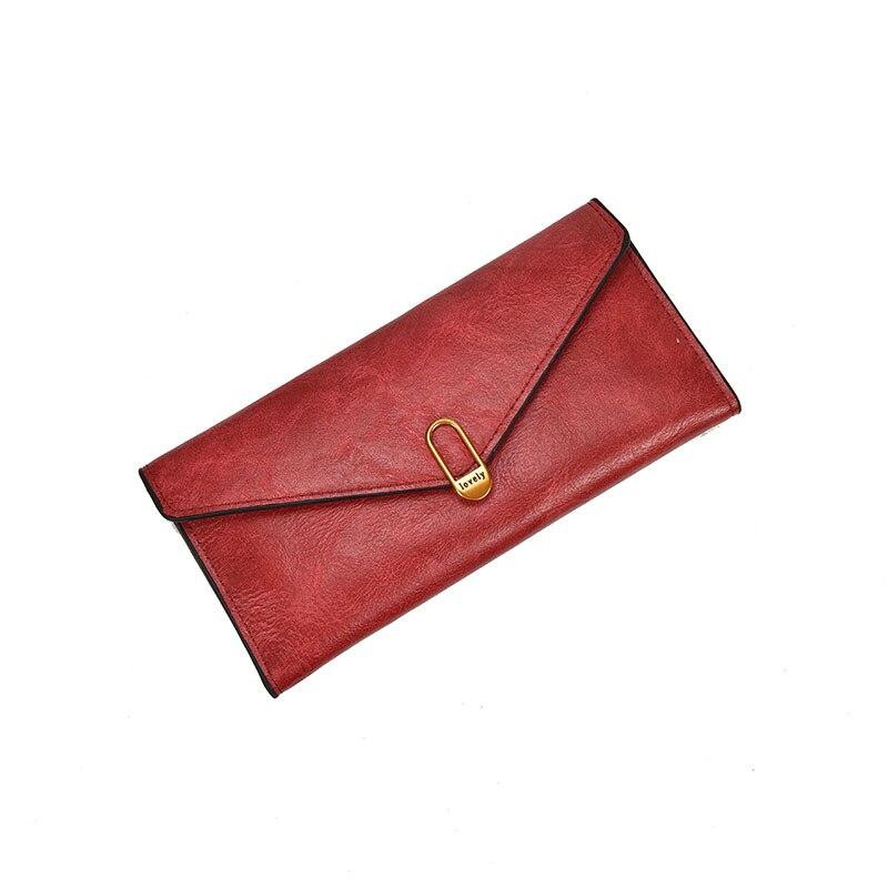 HH Casual Women Läder Plånbok Mynt Ficka Card Holder Lady Väskor - Plånböcker - Foto 5
