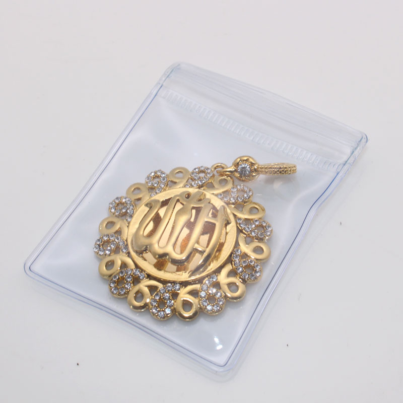zkd islam muslim Allah copper crystal pendant necklace  Arabic God Messager Gift jewelry