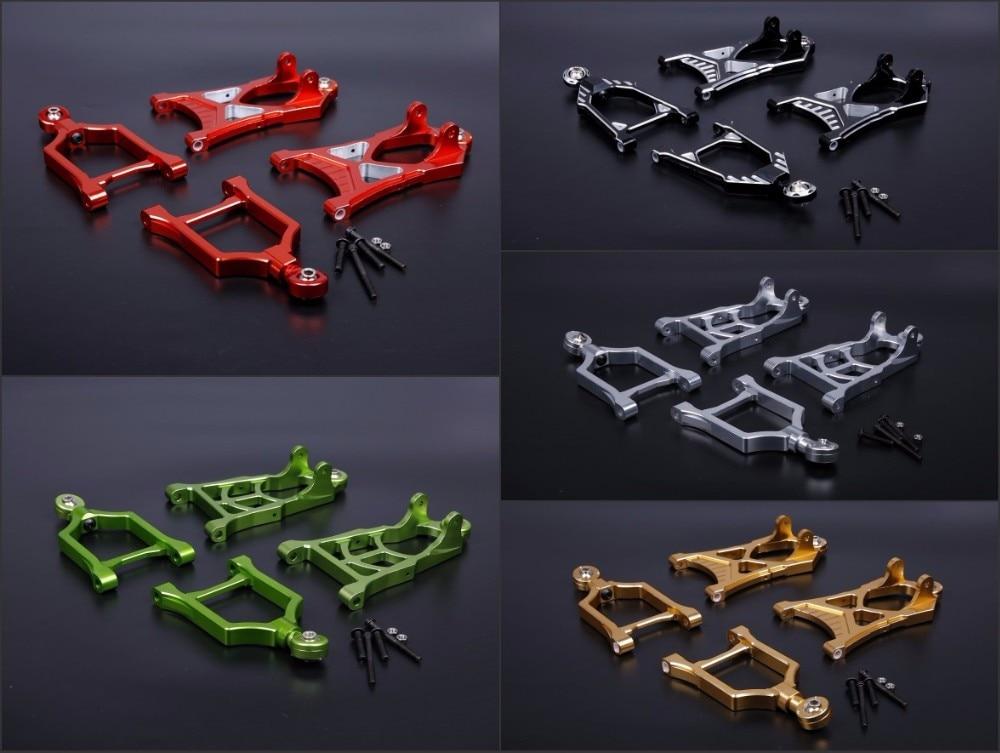CNC ally Front suspension A arm set for 1/5 hpi baja 5b parts km rovan new arrivals baja new front suspension arm set