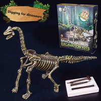 Child Archaeologist Dig Up Jurassic Dinosaurs Five Kinds Of Dinosaurs Model Students Kids Archaeological Learn Education
