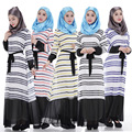 Abaya musulmán Islámico turco Vestido de dubai kaftan abaya Musulmán ropa Islámica turca jilbab hijab 1008