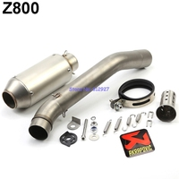 Motorcycle Z800 Exhaust System Slip On Muffler Pipe with DB Killer Akrapovic Muffler Exhaust Pipe Escape and Mid Pipe