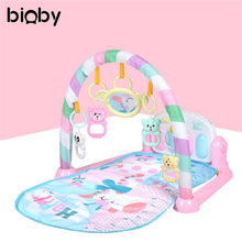 Baby Piano Music Blanket Play Floor Rug Musical Developing Gym Mat Kids Children Fitness Rack Baby Toys Intellectual Development(China)