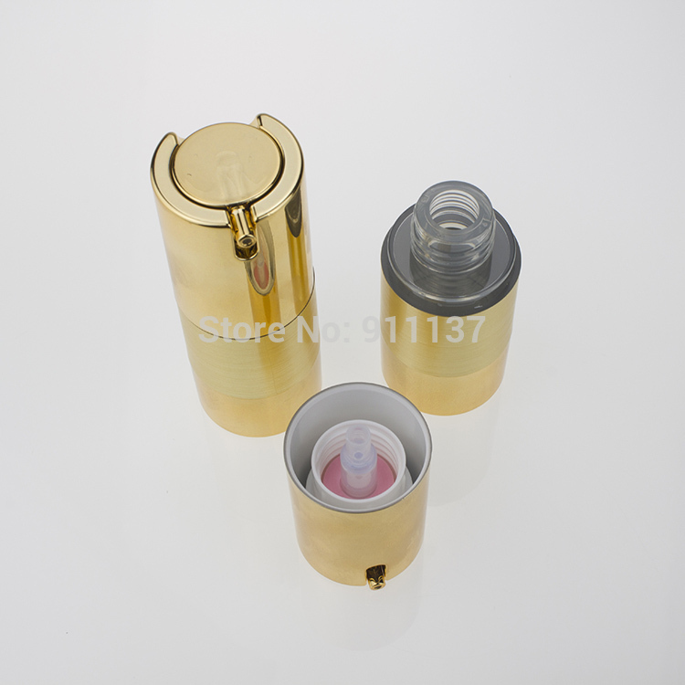 Za213 Gold 15 Ml Airless Bottle Wholesale Plastic Round