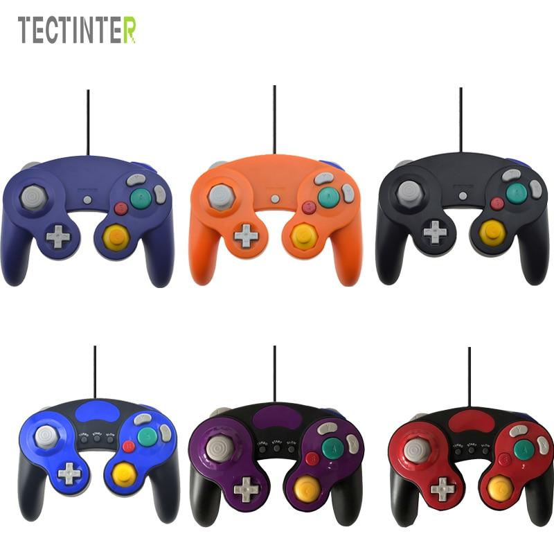 Para gamecube controlador usb com fio handheld joystick para nintend para ngc gc controle para mac computador pc gamepad