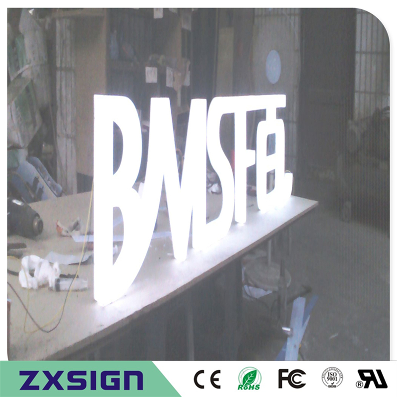 Factory Outlet Outdoor Full Acrylic Front & Side Lighted LED Channel Letter Advertising Signages For Shop Front Signs
