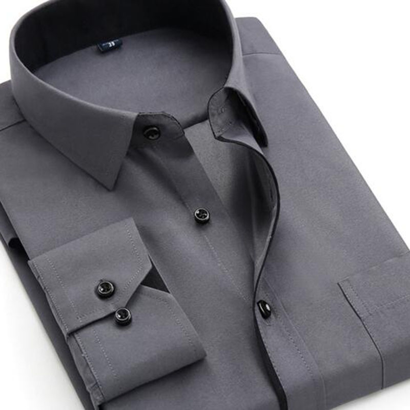 Men Solid Color Single Breasted Slim Fit Shirts Camisa,Pure Cotton Twill Dress Formal Business High Quality Shirts Candy Color