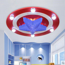 LED 21W-30W  America captain  creative cartoon male girl eye children room bedroom absorb dome light 110-240v все цены