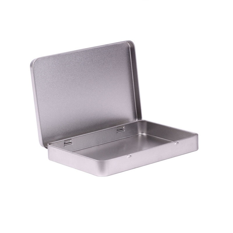 80pcs Metal Tin Box Photo Postcard Large Rectangle Classic Silver Jewelry Holder Storage Box 160*112*20mm Free Shipping wen5480