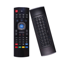 Elistooop MX3-A Air Mouse Mini Wireless Keyboard Smart Remote Control 2.4G IR Learning Fly Air Mouse For Android TV Box(China)