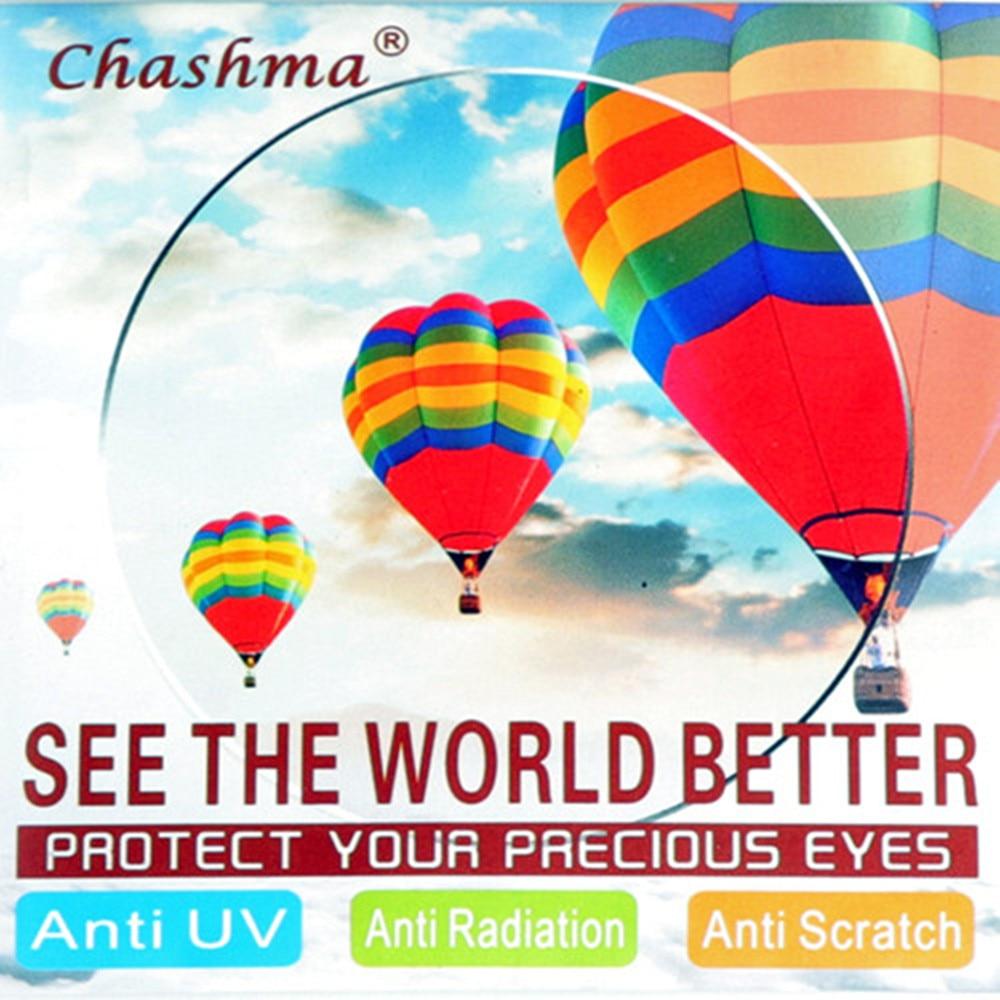 Chashma Μάρκα 1.74 Φακοί υψηλής ευκρίνειας Ασφαιρικοί Φακοί Πολύ Λεπτός Αντι-ανακλαστικός Γυαλί Προσαρμόστε 1.74 Φακοί για τα μάτια