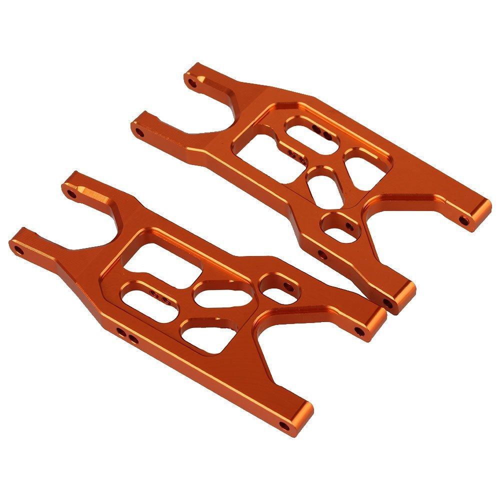 Axial Yeti Option Parts Aluminum EXO Lower Front Control Arms Set  AX80111X For Electric 1/10 Rock Racer Crawler 4WD front lower suspension control a arms aluminum for rc car 1 10 axial yeti rock racer buggy crawler upgraded hop up parts ax90026