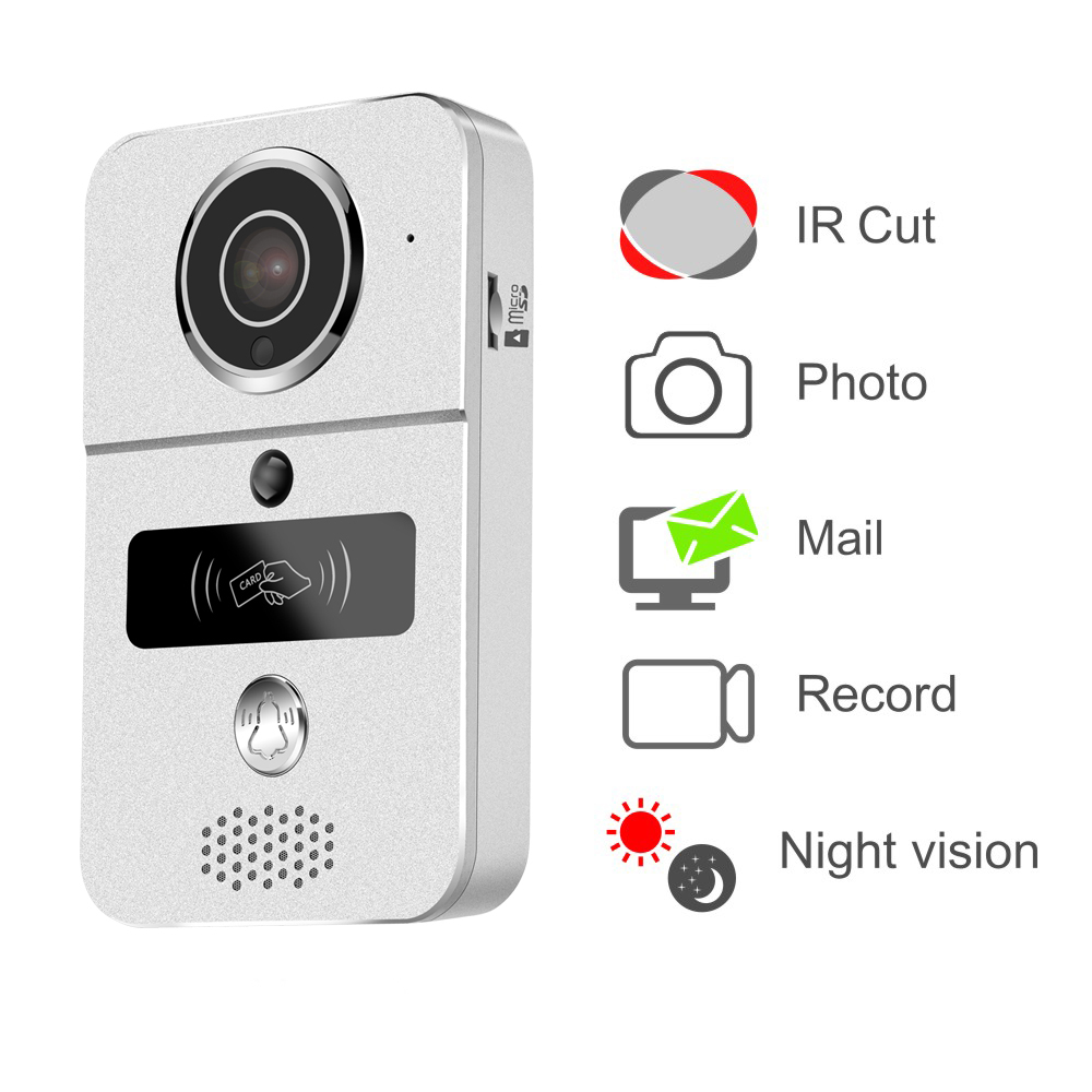 Jeruan Smart 720p Wireless Wifi Video Door Phone Intercom Record Network Free Download Wiring Diagrams Pictures Doorbell For Smartphone Remote View Unlock Ios Android In Stock From