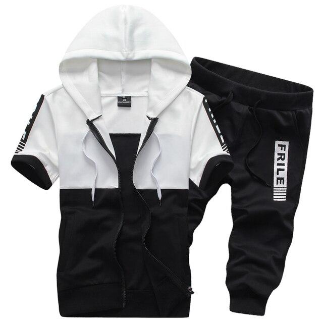 Short-Sleeve Hooded 2-Piece sets Mens 3XL Movement Casual Men Hoodies d8dcdf2d0