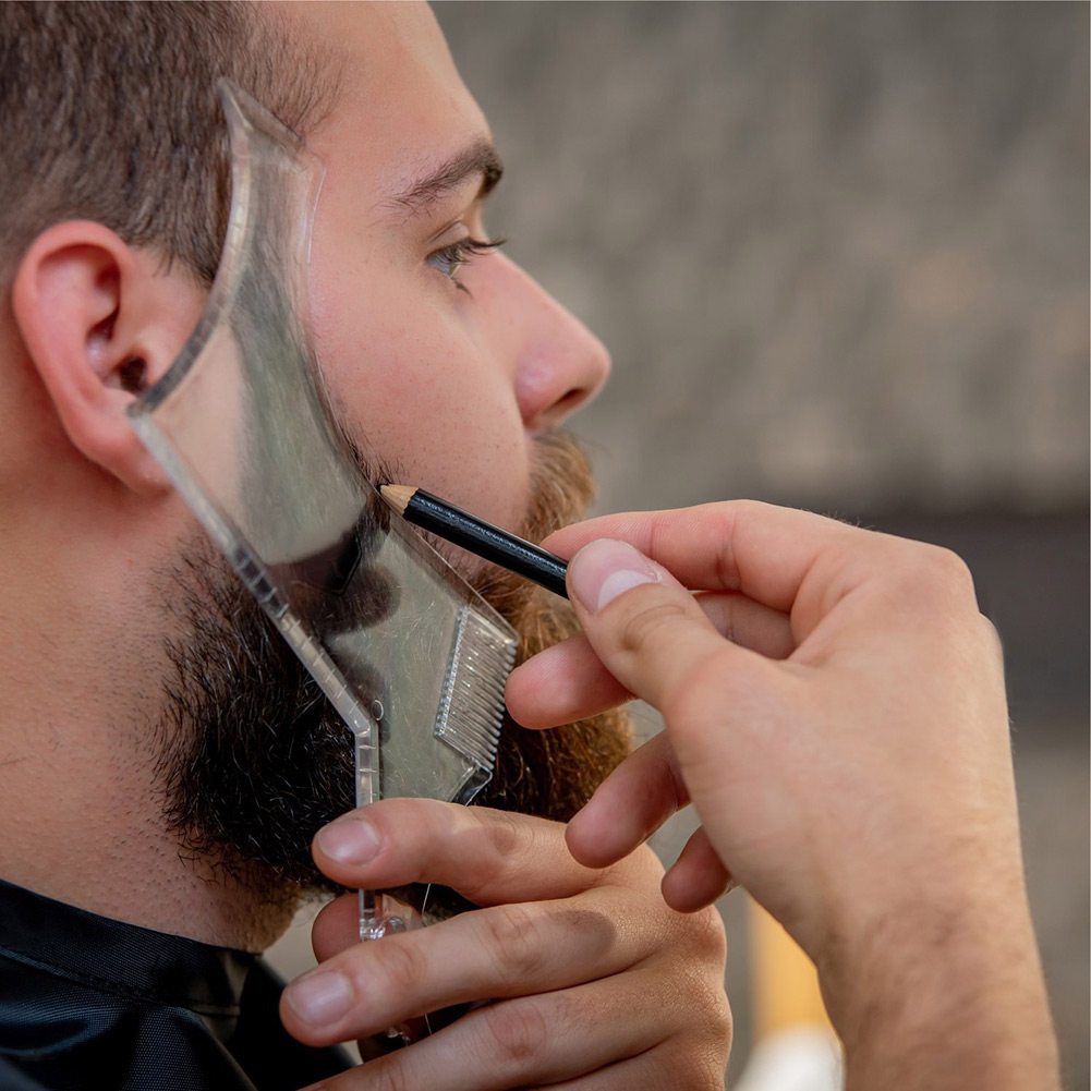 Hot Sale 1 Pcs Symmetry Trimming Beard Shaper Styling Shaping Template Comb Barber Tool ---MS