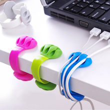 1 PC Protector Kopfhörer Krawatten Tragbare USB Kabel Organizer USB Kabel Stecker Kabel Wickler IPhone Draht Kabel Kabel Winder Halter(China)