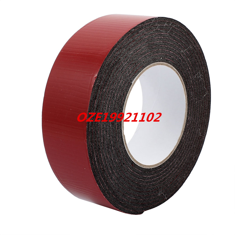 5M 50mm x 3mm Dual-side Adhesive Shockproof Sponge Foam Tape Red Black 1pcs single sided self adhesive shockproof sponge foam tape 2m length 6mm x 80mm