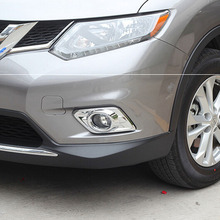 ABS Chrome Front Foglight Cover For X-Trail 2014 Exterior Car Decoration Accessories
