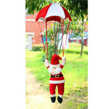 E5 Santa Claus Snowman In Parachute Christmas Tree Hanging Ornament Xmas Decoration jul14