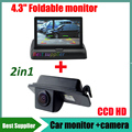 """2in1 HD CCD For Ford Focus 2008 2009 2010 S-MAX MONDEO Fiesta kuga Transit glaxy Car rear view parking camera + 4.3"""" car monitor"""