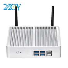XCY Mini PC Intel Celeron 3965U Dual Core 2.20GHz Windows 10 HD Graphics 610 Support 4K UHD HDMI VGA WiFi Fanless Minipc NUC