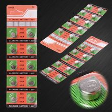 10PCS Alkaline Battery Button Coin Cell AG5 LR754 393 SR754 193 546 RW28 48 Hearing Aid Earphone Watch Batteries 95AD