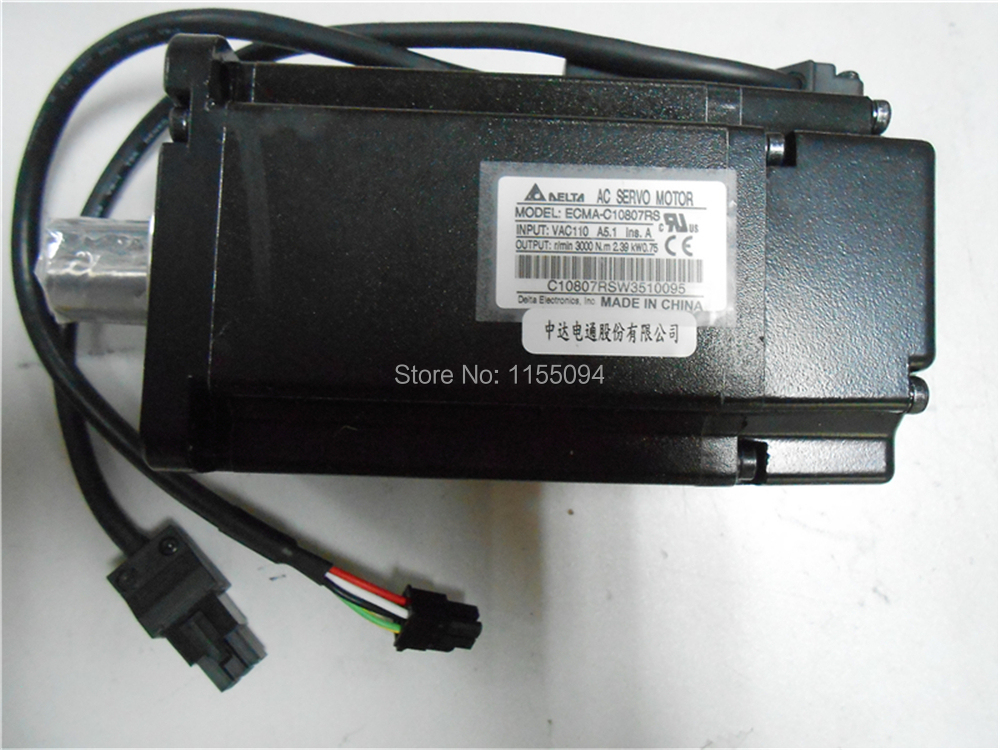 220V 750W 2.39NM 3000rpm  ECMA-C10807RS Delta AC Servo Motor with Keyway Oil Seal New new original 750wa2 series motor ecma c10807rs 220v 750w 2 39nm 3000rpm ac servo motor with keyway oil seal