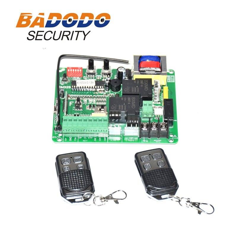 220VAC 370W ถึง 1000W เลื่อนประตูมอเตอร์ควบคุมอิเล็กทรอนิกส์การ์ดควบคุม PCB พร้อมรีโมทคอนโทรล